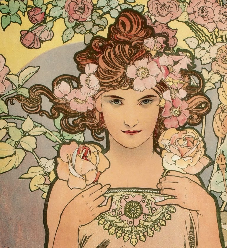 Alfons_MUCHA_The_Rose_1898_Detail